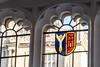 Looking out... (Ruth Flickr) Tags: ashmolean bodleian england oxford pat ruth stewart uk arms blue building coatofarms httpwwwbodleianoxacukabouthistory leaded red university window yellow