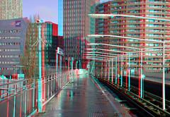 metro-station Rijnhaven Rotterdam 3D (wim hoppenbrouwers) Tags: metrostation rijnhaven rotterdam 3d platform metro anaglyph stereo redcyan rotterdamzuid