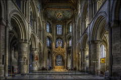 Peterborough Cathedral 2 (Darwinsgift) Tags: peterborough cathederal cambridgeshire interior hdr pce nikkor 24mm f35 nikon d810 photomatix cathedral