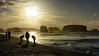 Treasure Hunting (KnightedAirs) Tags: nikon d5200 nikkor 35mm afs dx bandon beach oregon coast sky sunset dusk landscape coastal sun cloud clouds sand silhouette orange red