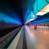 Turquois (katrin glaesmann) Tags: hamburg tube metro ubahn station ubahnhof hvv u4 hafencityuniversität colour train