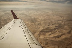 Flying over the desert (Syahrel Azha Hashim) Tags: sand aeroplane wing sony shallow holiday nopeople simple aqaba 2017 details a7ii royaljordanianairline aerialview middleeast ilce7m2 dof landscape desert getaway handheld colorimage vacation prime texture naturallight colorful sonya7 flight travel syahrel 35mm beautiful colors view traveldestination jordan light detail