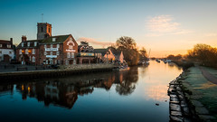 Wareham (Dave Fieldhouse Photography) Tags: wareham riverstour stour dorset dorsetlife landscape outdoors britain england photography winter sunrise fuji fujixt2 fujifilm river boats pub publichouse church theoldgranary reflections path frost calm cold chilly morning thepriory thequayinn