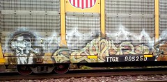 ? (Chicago City Limits) Tags: freight train graffiti benching chicago railroad art graff autorack autoracks auto rack racks rax holy rollers roller freights burners steel tracks locomotive