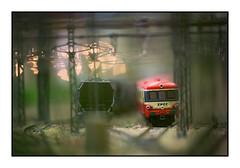 L'autorail (Rémi Marchand) Tags: maquette autorail caravelle modèle réduit miniature ferroviaire x4500 poteau caténaire faisceau triage x 4500 train rail