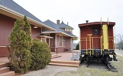 South Lyon, Michigan (8 of 8) (Bob McGilvray Jr.) Tags: southlyon michigan caboose wood wooden red cupola co chesapeakeohio railroad train tracks display public museum depot