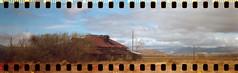 Abandoned Ranch - 1933 Kodak Jiffy (No Stone Unturned Photography) Tags: kodak jiffy folding camera art deco 1933 six16 616 35mm expired film sprocket holes ferrania solaris 200 arizona abandoned house home ranch panoramic pz feldman