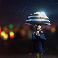 Rhythm of the falling rain. (djgreddy00) Tags: portrait texas dallas bokeh sony nightphotography sonyalphasclub zeiss55mm zeiss sonya7ii sonyimages sonyalpha shotkang ocf offcameralighting magmod magsphere