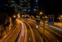 trail lights (Greg Rohan) Tags: carlights northsydney freeway sydney night nightlights nightphotography lights traillights photography 2017 d7200 road blur