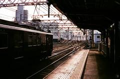 "Trip of ""TIME MEMORY"" (yasu19_67) Tags: timememory mamiyam sekor38mmf28 fujifilm fujicolor xtra400 expiredfilm 38mm film filmism filmphotography analog atmosphere photooftheday platform railway hankyu osaka japan"
