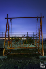 WILL YOU PLAY WITH ME? (Imaginoor Photography) Tags: sunset rooftop playground metal sunrise moss rust swing abandon swingset dhaka railing bangladesh shehab hossain imaginoorphotography