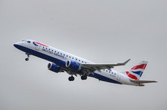 BA CityFlyer G-LCYU (NDH21793) Tags: city sky london plane flying airport flyer flight british airways embraer erj190