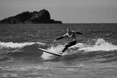 Raife Gaskell (Swebbatron) Tags: blackandwhite beach monochrome canon cornwall surf newquay competition surfing longboard 70300mm tamron fistral 2015 boardmasters radlab wsl 1100d gettotallyrad worldsurfleague