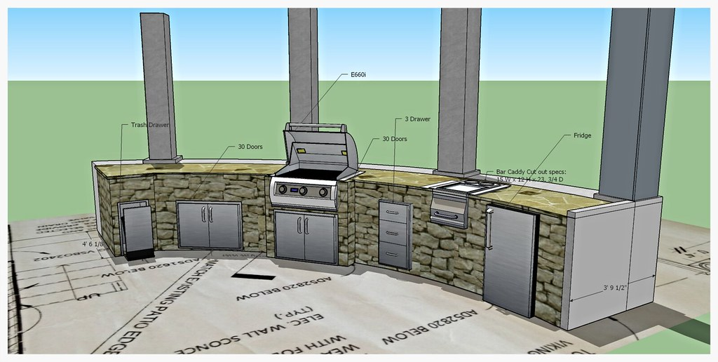 Design for Custom Fire Magic Outdoor Kitchen, Signal Mountain, TN