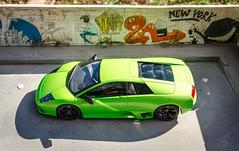 Murcielago 1/18 (vapi photographie) Tags: verde green car model collectible lamborghini diorama 118 murcielago diecast autoart
