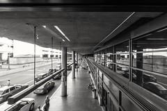 Always looking for the long shot.  #Seattle #SeaTac #Airport #People #Cars #Symmetry #Movement #VanishingPoint #BlackAndWhite #Washington #Travel (kallyone) Tags: seattle travel people blackandwhite cars vanishingpoint washington airport movement symmetry seatac
