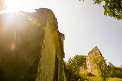 Blinded by the light (Raoul Pop) Tags: architecture corner fortress historic lensflare light medieval ruins summer sunlight rupea transilvania romania ro