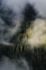 Simply Light (Yanbing Shi) Tags: sunset cloud fog washington mtbaker northerncascades