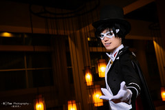 Tuxedo Mask () (btsephoto) Tags: portrait moon anime zeiss lens hotel dallas costume texas fuji play mask animefest cosplay iii flash tuxedo chiba carl convention fujifilm sailor f18 sheraton planar  32mm mamoru afest 3218 xt1 touit  yongnuo yn560  touit1832