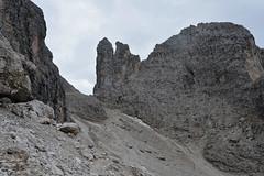 Zejście z przełęczy Forcella Diavolo