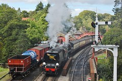 Goathland Double-Header (paul_braybrook) Tags: pacific stad pickering goathland southernrailway steamlocomotive grosmont northyorkshiremoors 76079 34092 class4 cityofwells brstandard