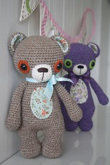Crochet teddy bears (lilleliis) Tags: bear wool kids toy teddy crochet yarn softies amigurumi