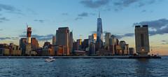 Battery Park City from North... (Tasayu Tasnaphun) Tags: world nyc newyorkcity newyork river one memorial sony 911 wtc hudson trade groundzero memoriallights a7s