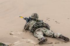 Royal Marine Commandos, Sunderland Airshow 2015 (tik_tok) Tags: england men beach uniform military rifle airshow soldiers sunderland commandos royalmarines