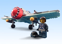 D-68 Punisher (JonHall18) Tags: plane fighter lego aircraft fantasy ww2 pilot moc skyfi dieselpunk