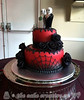 Hallowween Themed Wedding Cake