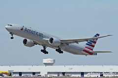 N724AN departing DFW Airport (Zane Adams.TX) Tags: airplane dallas texas american dfw boeing dfwairport airlines americanairlines 777 fortworth airliner 777300 77w
