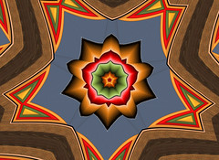 BrownRedcol5wedges offset2 (crescentmoongal) Tags: abstract color kaleidoscopes