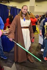 Qui-Gon Jinn cosplayer at Rhode Island Comic Con 2015 (FranMoff) Tags: starwars rhodeislandcomiccon 2015 quigonjinn cosplay cosplayer costume
