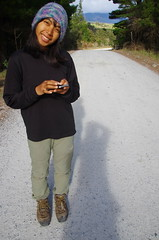 Updating fans back home (4seasonbackpacking) Tags: winter newzealand walking hiking backpacking nz southisland toots ta tramping nobo achara teararoa teararoatrail 4seasonbackpacking fourseasonbackpacking tatrail