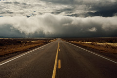 The Coming Storm (JasonCameron) Tags: road snow storm fall fog clouds drive utah desert ominous dramatic drama