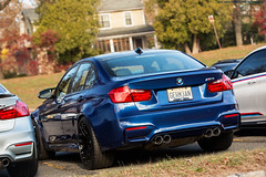 BMW M3 in LeMans Blue (Jeff_B.) Tags: blue autumn fall classic cars car germany automobile exotic chatham german bmw f80 m3 lemans individual croissants f82 carscroissants