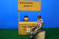 Lucy - Why Am I The Wrong Size? (MayorPaprika) Tags: booth ceramic lucy peanuts mattel psychiatric bigjim canoneos50d
