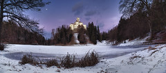 wandering in stillness (cherryspicks (on/off)) Tags: landscape winter snow panorama trakoscan castle croatia evening night architecture building lake frozen outdoor wow
