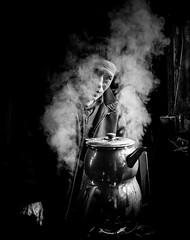 Steamy teapot (Mustafa Selcuk) Tags: xpro2 turkey istanbul people winter cold teapot fujifilm fujifilmtr monochrome monochromatic streetphotography streetphotographer streetshooter street bw bnw blackandwhite