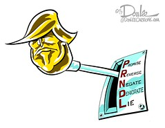 0117 shifty don cartoon (DSL art and photos) Tags: editorialcartoon donlee donaldtrump stickshift promises politics election gearshift transmission