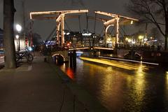 Walter Suskindbrug (Ralph Apeldoorn) Tags: amsterdam amsterdamlightfestival bridge brug canal gracht nacht nederland netherlands night noflash noordholland