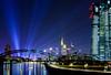 Skyline & EZB (Steffen Sh) Tags: bluehour blauestunde frankfurt frankfurtskyline skyline langzeitbelichtung osthafen osthafenbrücke hafenviertel offenbach outdoor ffm nikon tokina 1224 ultraweitwinkel weitwinkel wideangle city lights architecture deutscheneinheit nacht night d7100 ezb rollei