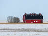 02 Modern - but I like it (annkelliott) Tags: alberta canada eofcalgary scenery landscape field snow snowcovered building architecture barn modern red colour colourful bright tree trees outdoor winter 16january2017 fz1000 annkelliott anneelliott
