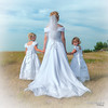 Don't look back... (Pat Kavanagh) Tags: flowergirls taber wedding bride groom canada
