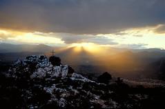 Sardinia, Italy. Above Baunei (Alain Rempfer) Tags: nikonfm2 nikon analog velvia sardinia sardaigne coucherdesoleil sunset ngc 24mm bauneicity italy filmcamera argentique