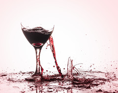 The Party's Over (brian-caldwell.artistwebsites.com) Tags: wine wineglass redwine broken brokenglass smashed destroyed beverage party drink red spill