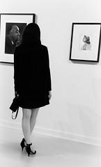 Grace (johnsinclair8888) Tags: museum photo blackandwhite karsh bellagio iphone silvereffectspro legs heels woman skirt highcontrast art portrait people bw john davis johndavis sliderssunday