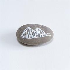Mountain Landscape 1 (Natasha Newton Art) Tags: natashanewton paintedstone paintingmountains 52weekproject