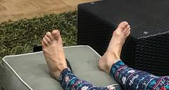 Holiday Feet (Ped-antics) Tags: sexy sexyfemalefeettoessandalstoesbarelegsanklesheelshighheelsmulesslidessoles sexytoes sexyfeet toes heels feet female foot footfetish femalefeet ankles arches amateur
