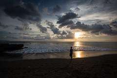 Silhouette on Bali Island (pictcorrect) Tags: bali island echo beach canggu surfers surfing sunset wide angle